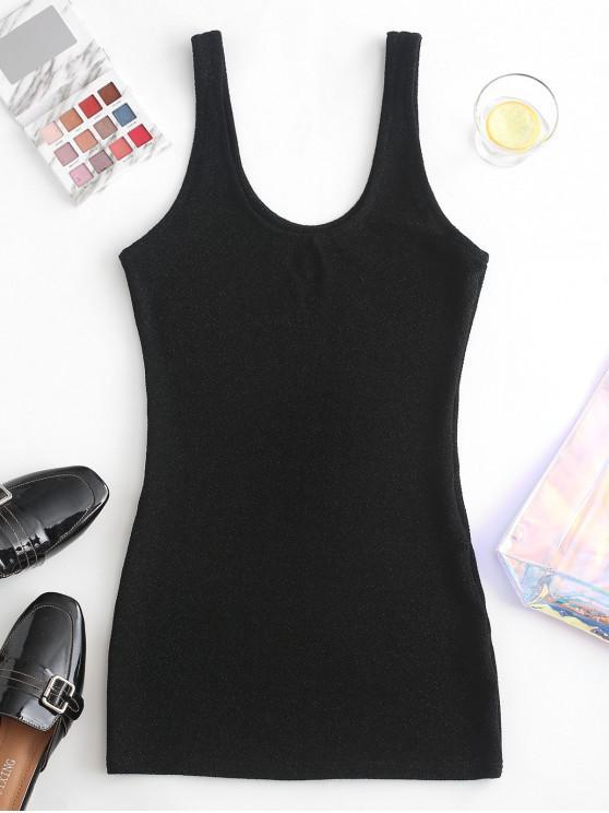 lady Glitter Mini Tank Dress - BLACK M