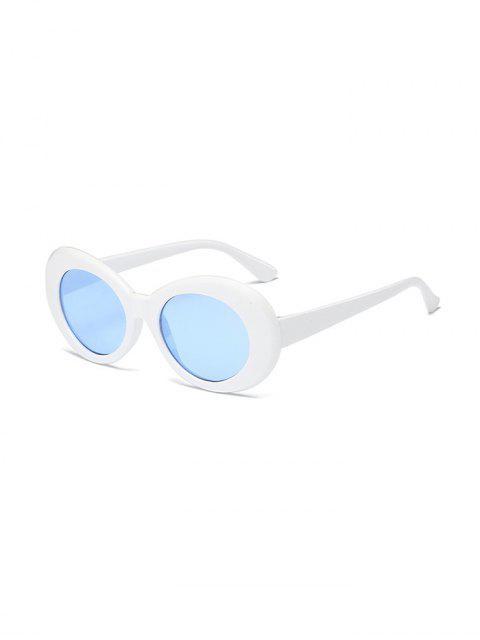 Gafas de Sol Redondas contra Rayos Ultravioletas con Forma Redonda Vintage - Azul Marino  Mobile