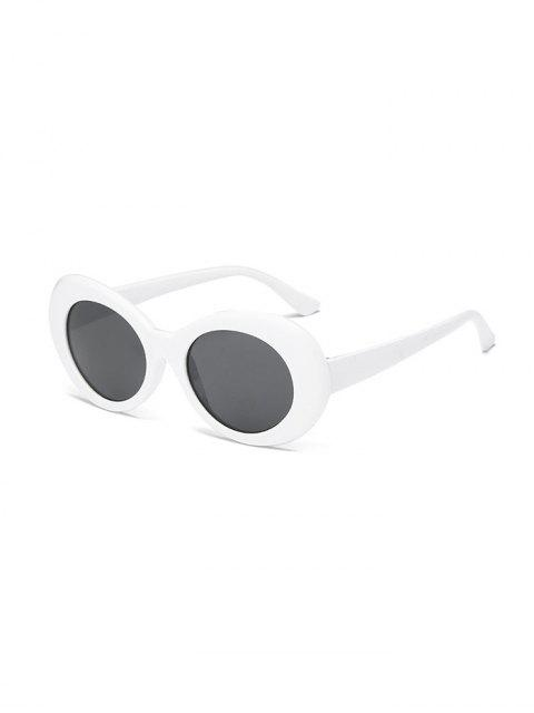 hot Vintage Round Shape Outdoor Sunglasses - WHITE  Mobile