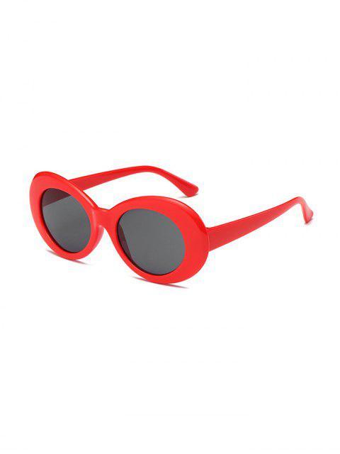 Lunettes de Soleil Vintage en Forme Ronde Pour Extérieur - Rouge  Mobile