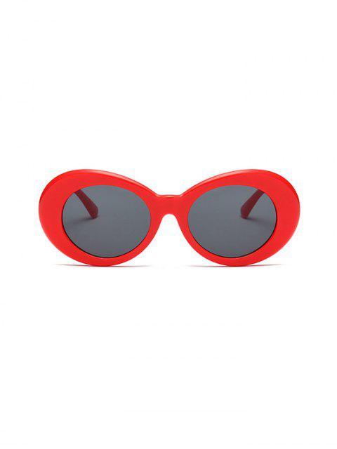 Gafas de Sol Redondas contra Rayos Ultravioletas con Forma Redonda Vintage - Rojo  Mobile