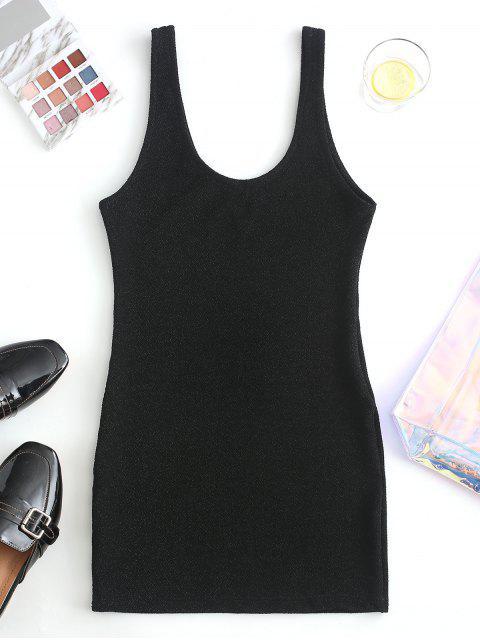 Mini Robe Débardeur à Pailettes - Noir M Mobile