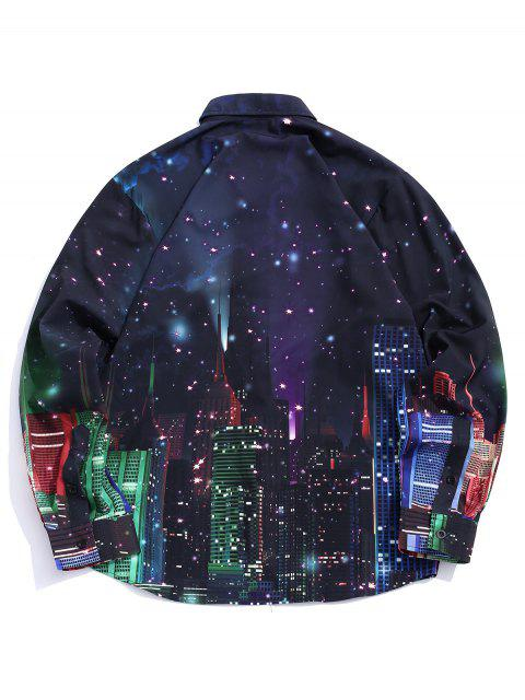 Chemise à manches longues City Starry Night Imprimer - Multi L Mobile
