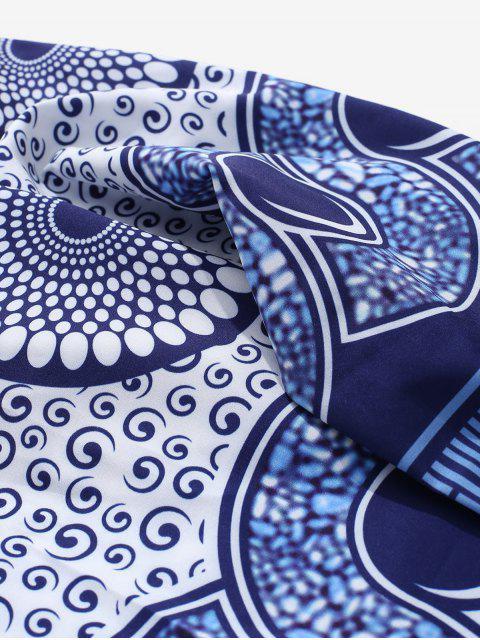 Chemise boutonnée à manches longues et imprimé tourbillon - Multi M Mobile