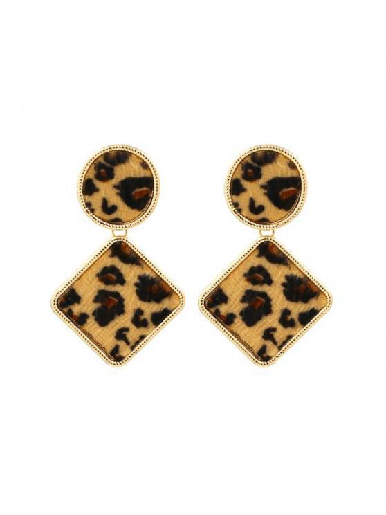 sale Geometric Design Drop Earrings - LEOPARD