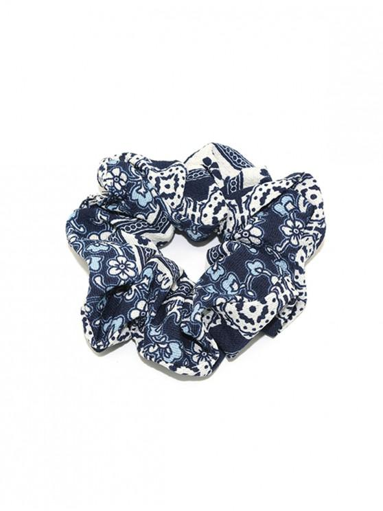fashion Floral Pattern Elastic Hair Band - BLUEBERRY BLUE