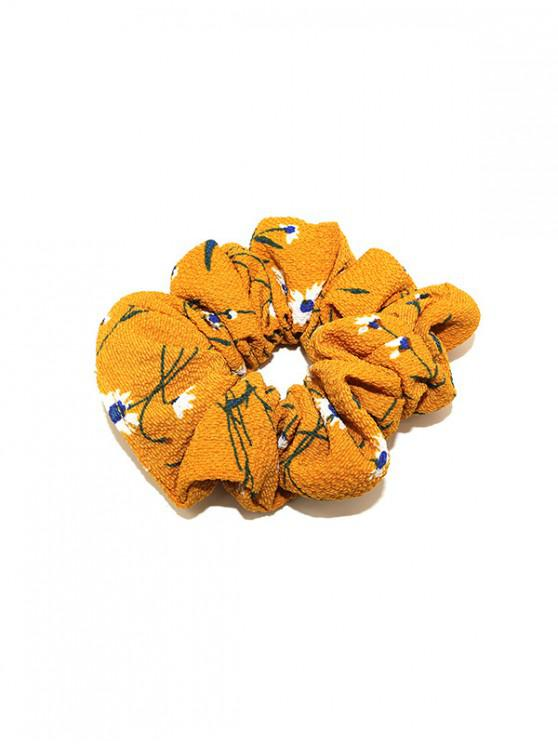 fancy Floral Pattern Elastic Hair Band - BRIGHT YELLOW
