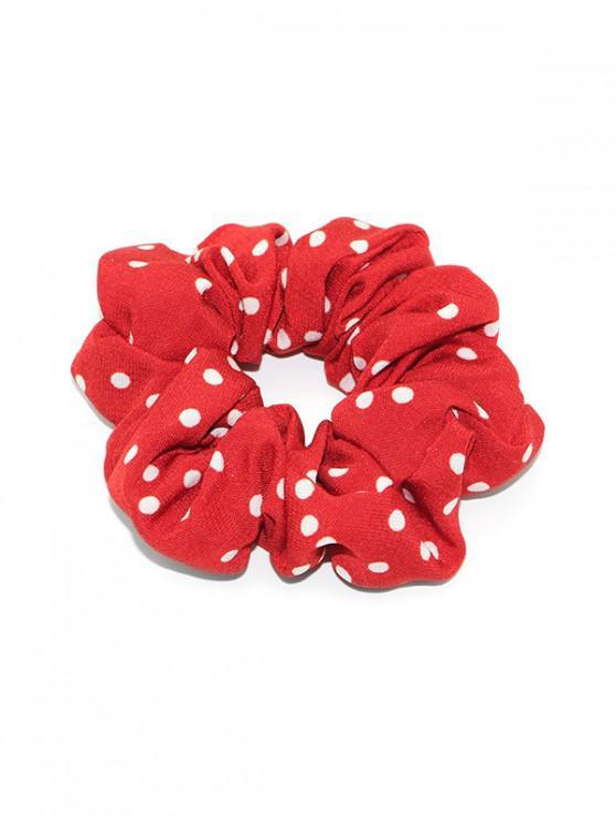 affordable Polka Dot Print Elastic Hair Band Scrunchies - RED