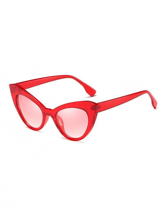 ladies Butterfly Shape Vintage Sunglasses - RED