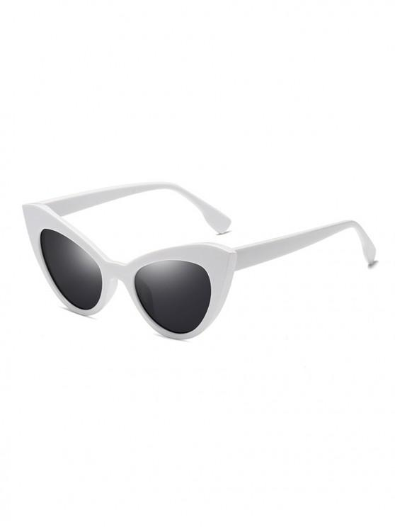 outfits Butterfly Shape Vintage Sunglasses - WHITE