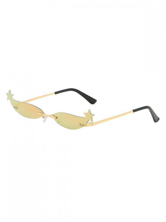 best Unique Star Decoration Outdoor Sunglasses - ORANGE PINK
