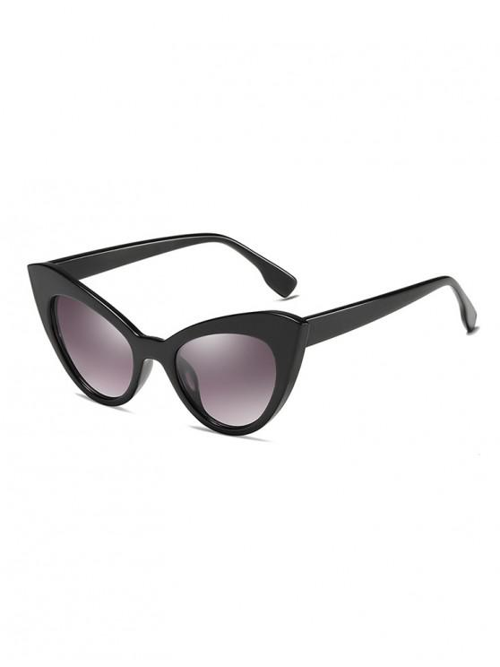 online Butterfly Shape Vintage Sunglasses - MIRROR BLACK
