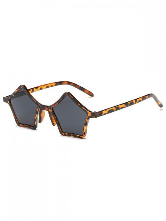 shop Vintage Geometric Design Outdoor Sunglasses - LEOPARD