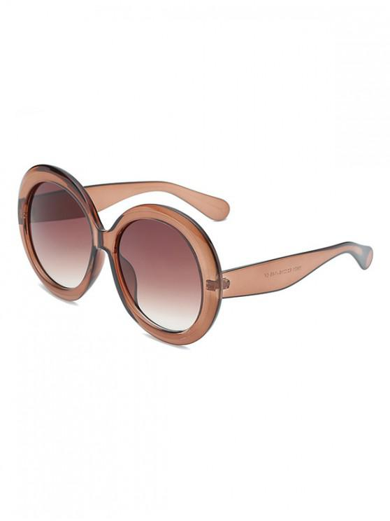 affordable Vintage Round Shape Design Sunglasses - TIGER ORANGE
