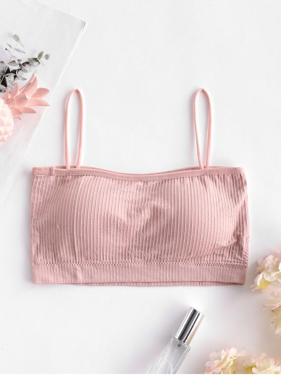shop Ribbed Padded Cami Bra - ROSE ONE SIZE