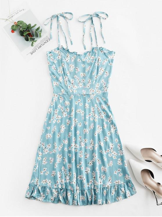 Floral Cami A Line Mini Dress - Blu Jeans  M