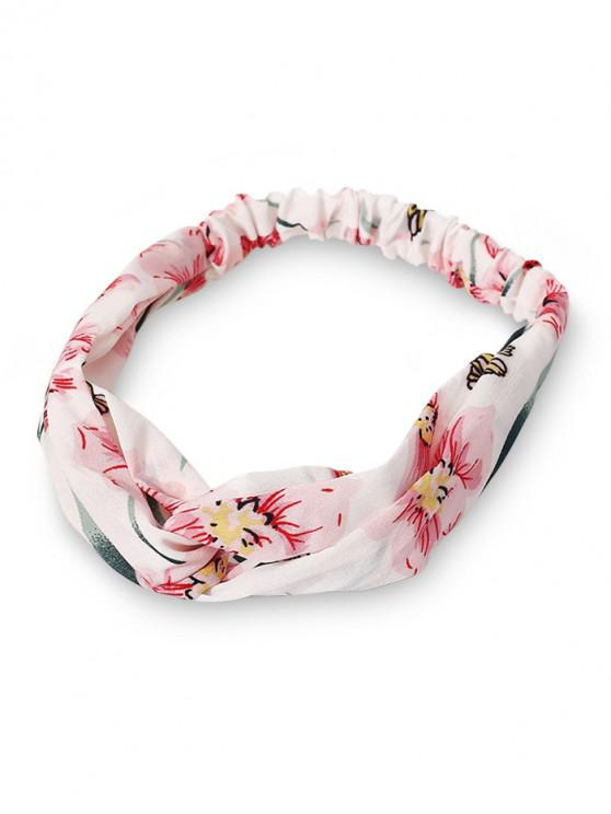 affordable Ditsy Print Cross Elastic Headband - WHITE