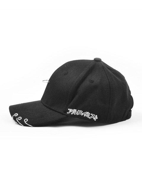 new Pin Hoop Embellished Baseball Cap - BLACK  Mobile