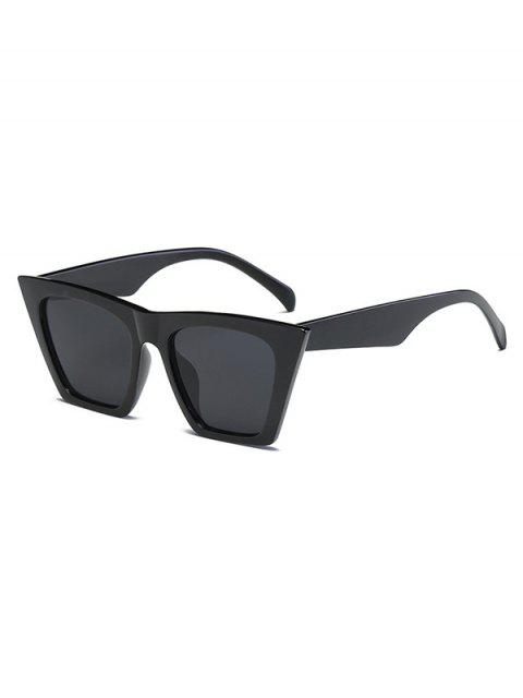 Большая оправа Уличные Солнцезащитные Очки - Зеркальный черный  Mobile
