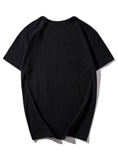 Camiseta mangas cortas estampado gráfico de Dreamcatcher - Negro L Mobile