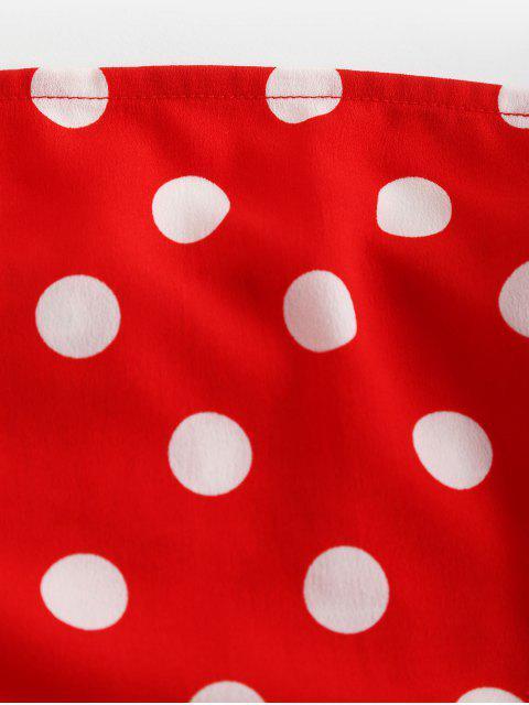 ZAFUL Top de Pontos Decorativos de Pontos - Lava Vermelha M Mobile
