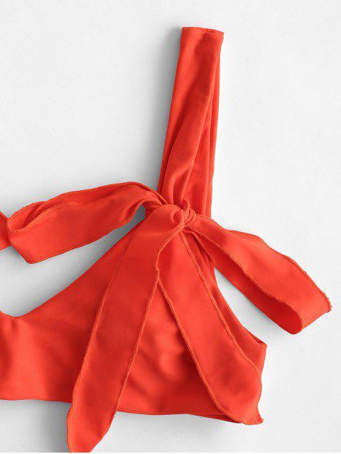 ZAFUL Maillot de Bain Bikini Néon Noué - Orange Papaye L Mobile