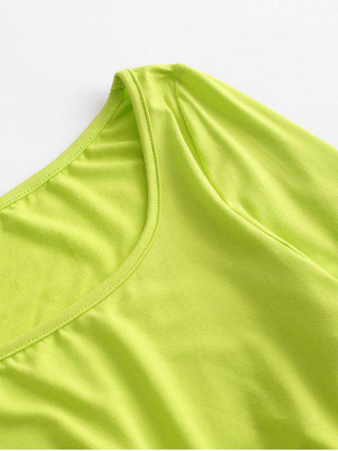 ZAFUL T-shirt court en néon à boucle découpée - Vert Thé L Mobile