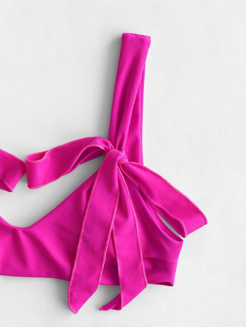 ZAFUL Maillot de Bain Bikini Néon Noué - Magenta Dimorphotheca L Mobile