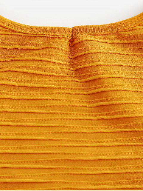 Robe Moulante Côtelée à Bretelle - Jaune L Mobile