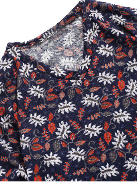 T-shirt Décontracté Fleur Plante Imprimées à Manches Longues - Multi-A 2XL Mobile