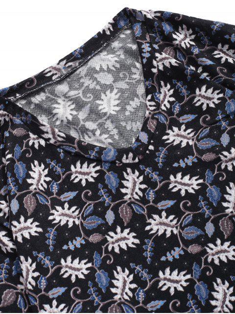 T-shirt Décontracté Fleur Plante Imprimées à Manches Longues - Multi 2XL Mobile