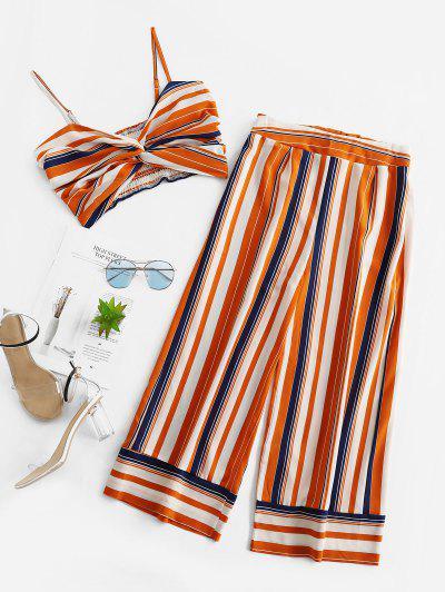 Smocked Twist Stripes Two Piece Set