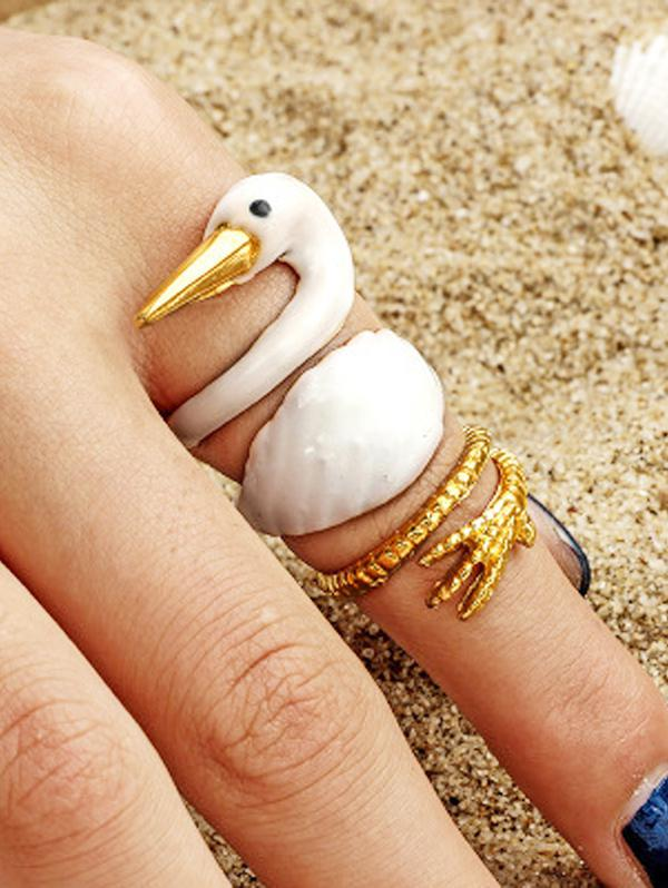 3 Piece Animal Wide Finger Ring Sets