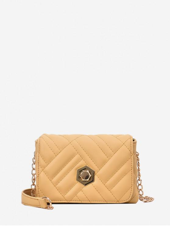 new Chain Square Small Simple Crossbody Bag - YELLOW