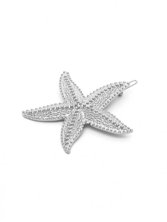 กิ๊บติดผม Metal Sea Star Shape - เงิน