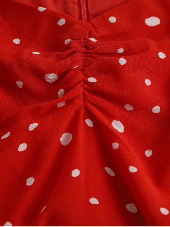 À valentin PoisRouge Mini Zaful Saint Volants robe S Ourlet bvfYg67y