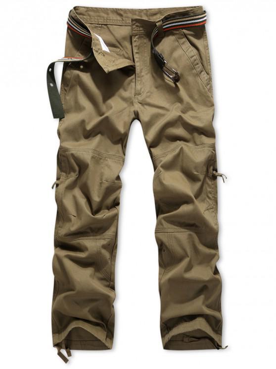 Pantalones largos rectos con bolsillo lateral con cremallera - Vara de Oro 32