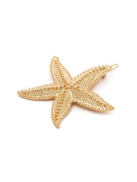 unique Metal Sea Star Shape Hair Clip - GOLD  Mobile