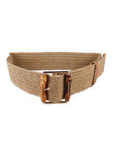 عارضة حزام مشبك الخشب النسيج - كاكي