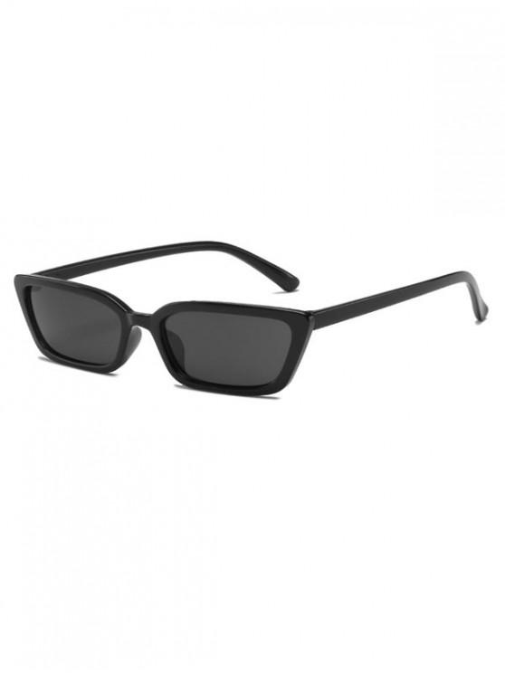 new Vintage Narrow Rectangle Anti UV Sunglasses - BLACK