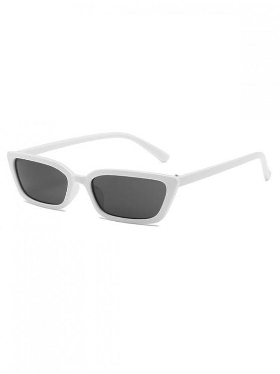 affordable Vintage Narrow Rectangle Anti UV Sunglasses - WHITE