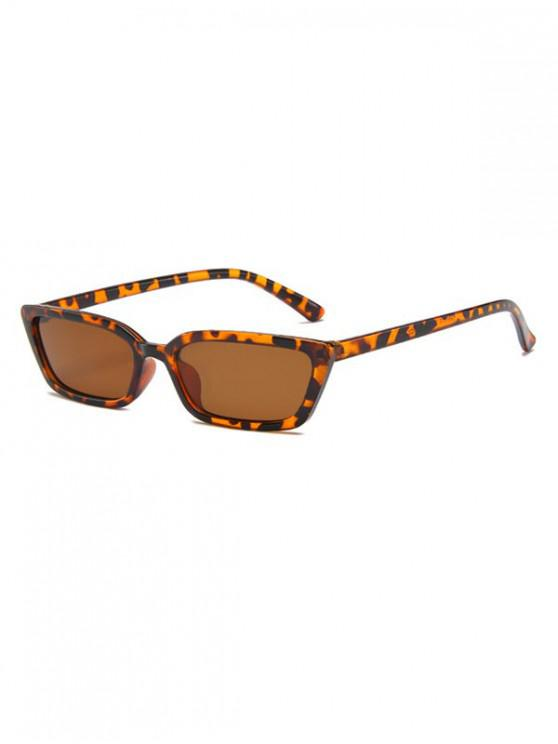 chic Vintage Narrow Rectangle Anti UV Sunglasses - LEOPARD
