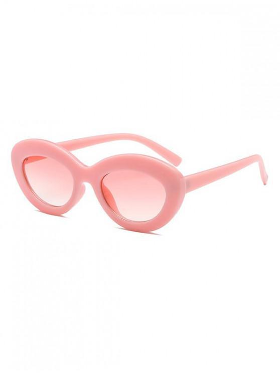 Gafas de sol de diseño oval vintage - Rosado