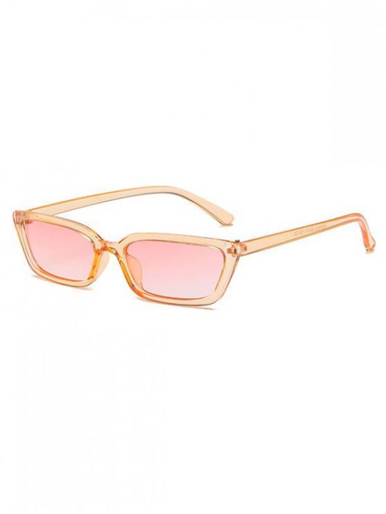 buy Vintage Narrow Rectangle Anti UV Sunglasses - PUMPKIN ORANGE