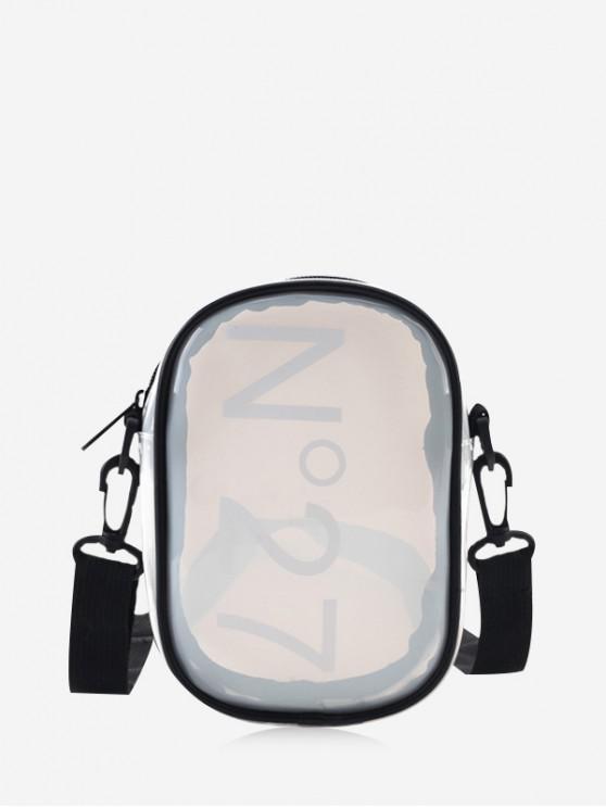 new Character Transparent Crossbody Bag - WHITE