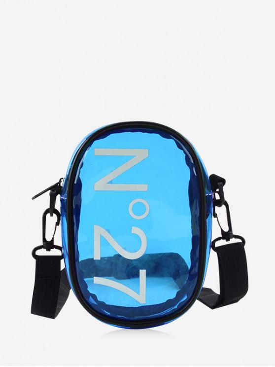 unique Character Transparent Crossbody Bag - BLUE