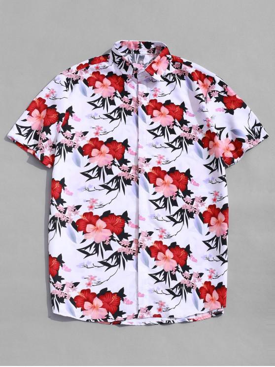 D'hawaïMulti M De Manches Imprimé Floral Plage Courtes À Décontractée Chemise 5RqL4j3A