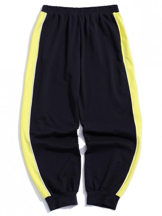 ZAFUL Pantalon de Jogging Bicolore Contrasté avec Poche GOLDEN BROWN
