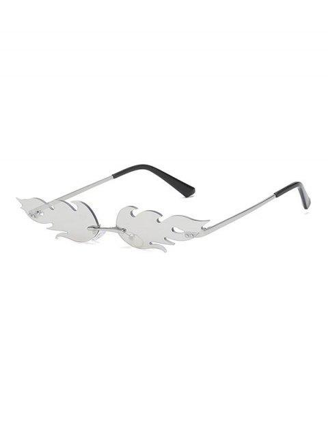 Gafas de Sol con Forma de Fuego - Plata  Mobile