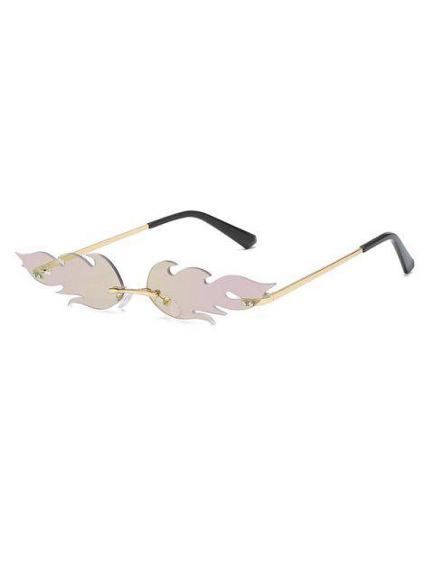 Металлические Солнцезащитные Очки Без оправы Форма огня - Фиолетовый  Mobile